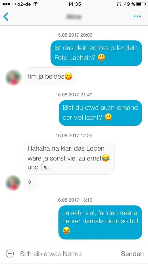 Erster Chatverlauf von Lovoo