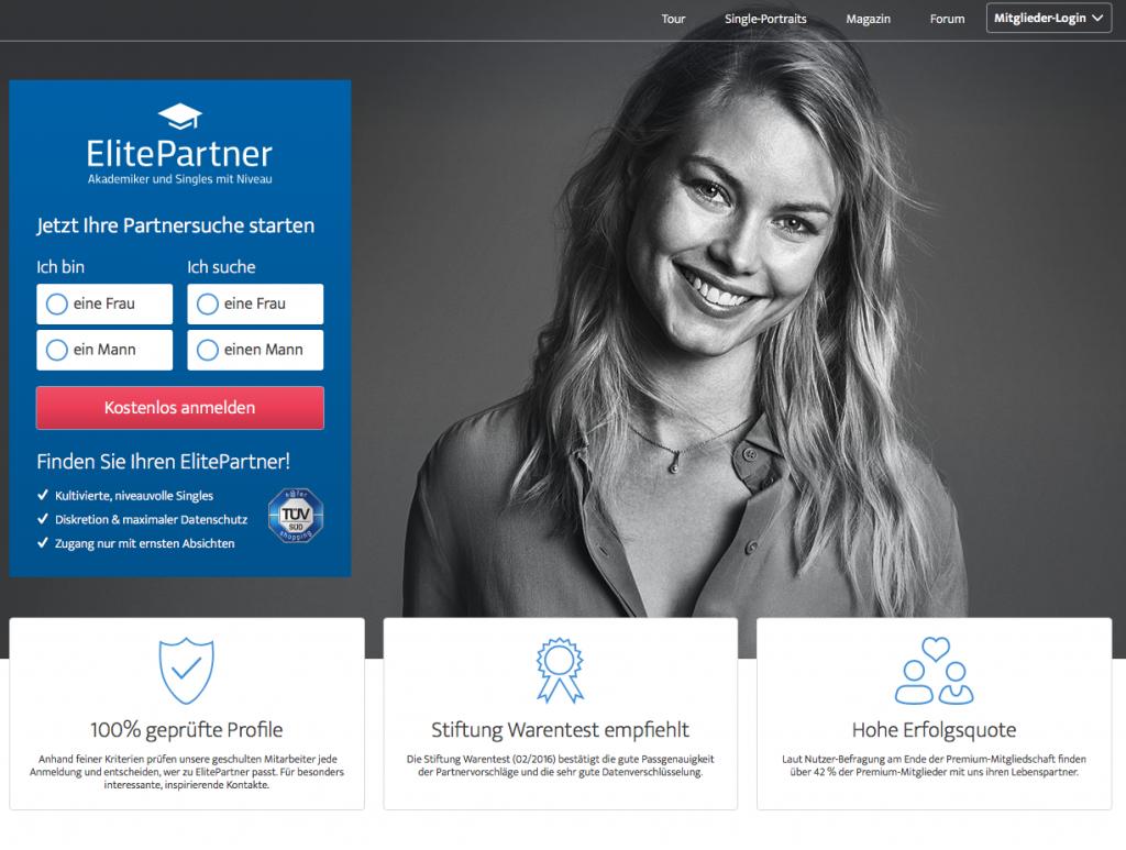 Elite Partner Seite