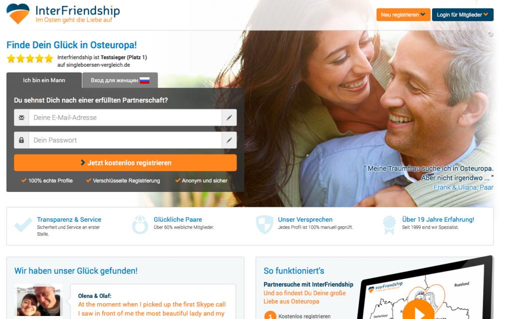 Interfriendship Seite