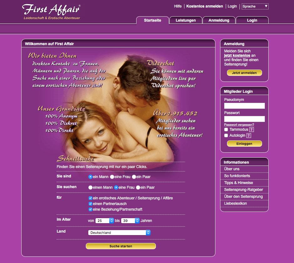 First Affair Screenshot