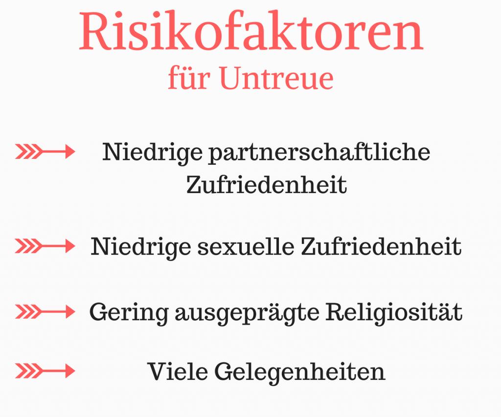 Risikofaktoren für Untreue
