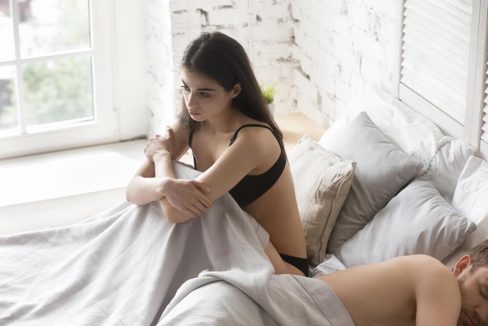Beziehungsproblem im Bett